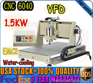 4axis Usb Cnc 6040 1 5kw Spindle Router Engraver Milling Machine Pcb Aluminium