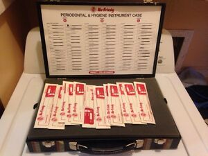 Hu friedy Periodontal And Hygiene Instrument Case New 90 Tools At 13 Each