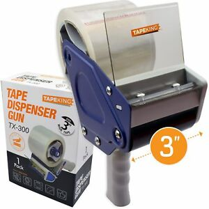 Tape King Tx300 3 Inch Wide Packing Tape Dispenser Gun Plus 7 Rolls Original New