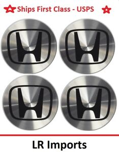 New 4pc Honda Wheel Center Hub Caps 69 Mm Aluminum Accord Civic Odyssey Pilot