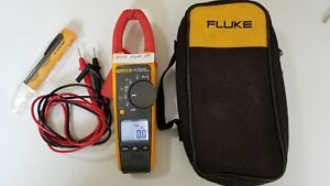 Used Fluke 375 True Rms Ac dc Clamp Meter With Storage Case Great Tp 224111