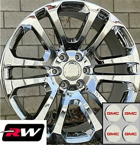 20 Inch Gmc Sierra 1500 Ck158 Oe Replica Wheels Chrome Rims 20 X9 6x139 7 24
