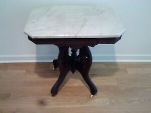 Antique Marble Top Table 20 X 28