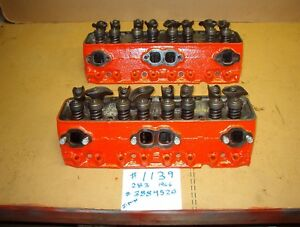 1139 Heads 283 Chevy 3884520 Date I 1 6 Complete With Valves