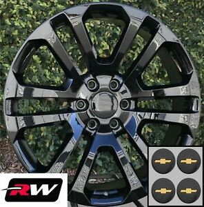 20 Inch Chevy Tahoe Ck158 Oe Replica Wheels Gloss Black Rims 20 X9 6x139 7 6x5 5