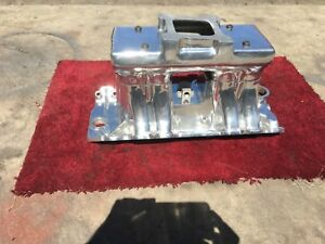 Weiand Hi Ram Tunnel Ram Intake Polished Nice Big Block Chevy