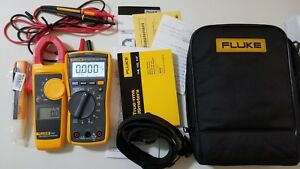 Lightly Used Fluke 117 323 Electrician Kit With Accessories Great Deal