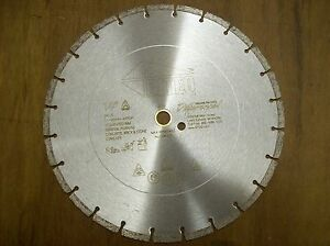 14 Dxs Diamond Blade Cuts Brick Block Concrete Great For Wacker Cutoff Saws
