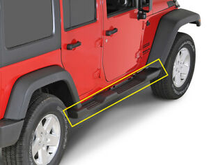 Fits 07 17 Jeep Wrangler Jk Abs Unlimited 4dr Running Board Side Step Nerf Bars