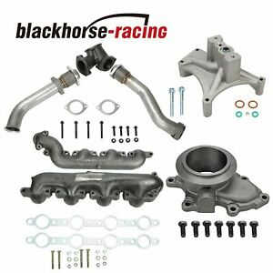 For 99 5 03 Ford 7 3 Powerstroke Diesel Bellowed Up Pipes Turbo Pedestal
