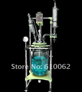 100l Explosion Proof Motor Jacketed Chemical Reactor Double neck Glass Reaction