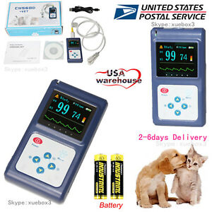 Handheld Veterinary Pulse Oximeter With Tongue Spo2 Probe pc Software new