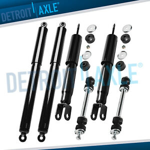 Front Rear Shocks Absorber W Sway Bars For 4wd 2000 2006 Silverado Sierra 1500