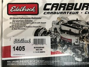 Edelbrock 1405 Performer Carburetor 4 Bbl 600 Cfm Air Valve Secondaries