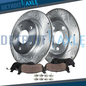 Rear Drilled Rotors Ceramic Pads 2006 2009 2010 Ford Explorer Mountaineer