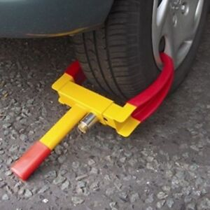 Wheel Lock Clamp Boot Tire Claw Trailer Auto Car Truck Anti Theft Towing Us