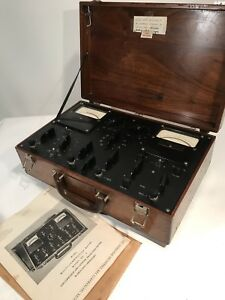 M C Miller Multi Combination Meter Model 5 158 Vintage Electrician Wood Case