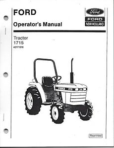 Ford 1715 Tractor Operator Manual 42171510