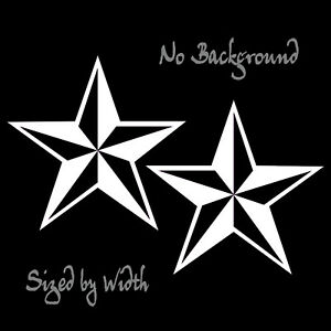 Star Decal 2 Pack Nautical Beveled Star Stickers Choose Color Size