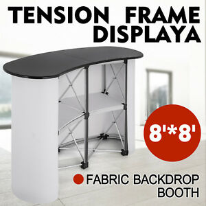 Pop Up Trade Show Display Counter Table Podium Banner Stand Demo Retail Updated