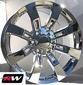 22 X9 Inch Cadillac Escalade Oe Replica Denali Wheels Ck375 Chrome Rims 6x139 7