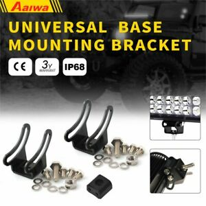 2x Universal Brackets Mounting Base Bracket Led Light Bar Slide Mount Bracket