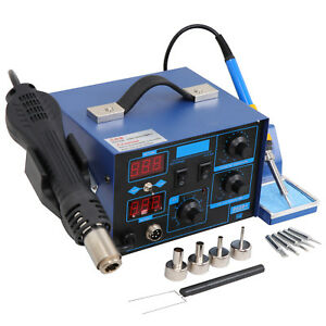 862d 2 In 1 Soldering Rework Stations Smd Hot Air Iron Gun Desoldering Welder