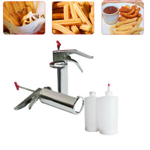 1l Manual Spanish Donuts Churrera Churros Filler Filling Machine Dessert Maker