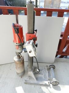 Milwaukee Core Drill 4120 Diamond Coring Rig With Large Base Stand Elm