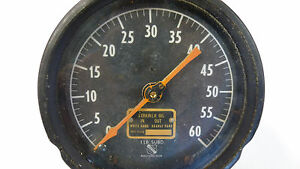 Ashcroft Duplex Oil 0 60 Psi Gauge Vintage Steampunk Industrial Decor Ap5355