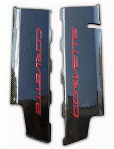 Chevrolet Corvettes C7 Lt1 Carbon Fiber Hydrographics Fuel Rail Engine Covers