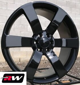 20 X8 Inch Chevy Trailblazer Ss Oe Replica Wheels 5254 Gloss Black Rims 6x127