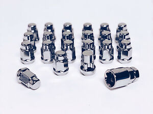 12x1 25 Chrome Lug Nut Wheel Lock Combo Scion Frs Subaru Brz Wrx Sti Impreza