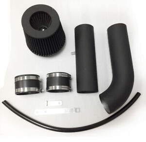 Coated Black For 2pc 2011 2017 Hyundai Veloster Accent 1 6l L4 Cold Air Intake