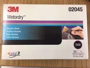 3m 02045 Wetordry Sheet 2500 Grade 5 1 2 Inches X 9 In 2045