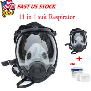 Us 11 In 1 For 3m 6800 Facepiece Respirator Gas Mask Full Face Painting Spraying