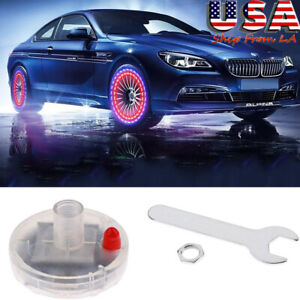 Waterproof Car Wheel Solar Energy Led Tire Valve Stem Cap Atmosphere Lamp
