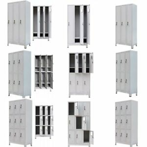 Office School Locker Cabinet With 3 6 9 Compartments Steel 35 4 x17 7 x70 9 New