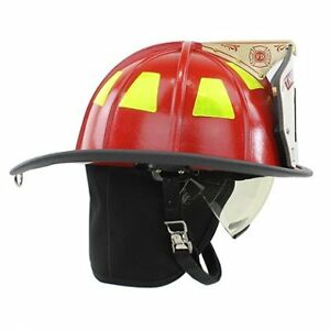 Cairns 1044 Helmet Red Nfpa Osha 1044 W Defender Visor Deluxe Red