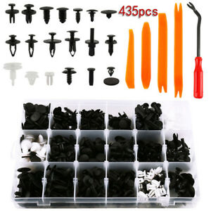 435pc Set Plastic Clip Car Body Retainer Push Pin Trim Rivet Panel Moulding