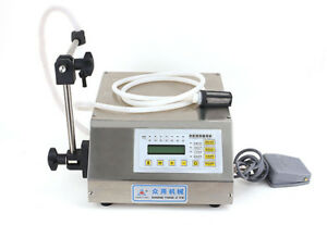 220v Digital Control Magnetic Pump Automatic Liquid Filling Machine 2 3500ml
