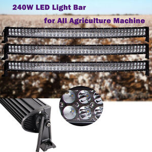 3pcs 240w Straight Led Light Bar Fit Frontier Implement Harvest Hay Equipment