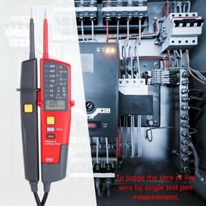 Uni t Ut18c Date Holding Lcd Digital Voltage And Continuity Tester Backlight