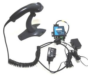 Honeywell Voyager Area imaging Barcode Scanner W stand Revel Serial Server