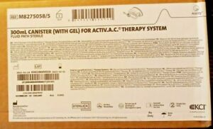 New K c i V a c Wound Therapy System 300ml Canisters with Gel lot Of 10