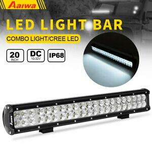 20 Inch 630w Led Work Light Bar Spot Flood Combo Beam Lamps Offroad Suv