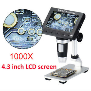 Portable Digital Microscope With Stage 1000x 4 3 Lcd Screen Pcb Soldering Tool