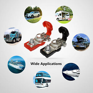 1 Pair Positive Nagative Car Battery Terminal Clamp Clips Connector Protection