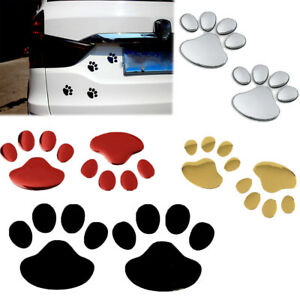 Universal Auto Car Sticker 3d Animal Paw Dog Cat Bear Footprint Wall Decor