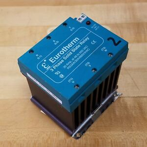 Eurotherm Rs3aa 30a 660v hac Solid State Relay 3 Phase 30 Amp 48 To 660 Vac
